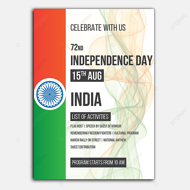 Independence Day Invitation Template For Free Download On