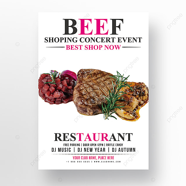 Steak House Flyer Template Template For Free Download On Pngtree