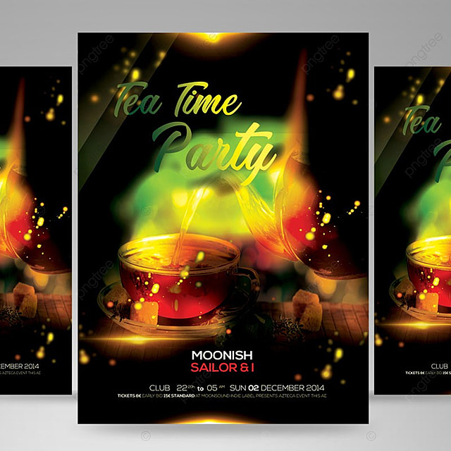 tea party flyer template for free download on pngtree