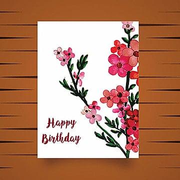 Aguarela floral desejos cartão, Aquarela, Cor, ColoridoPNG e Vector