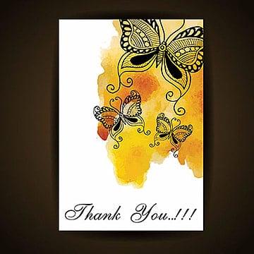 Aquarela borboleta cartão, Aquarela, Cor, ColoridoPNG e Vector