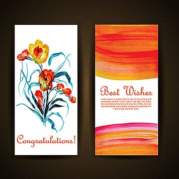 Acuarela floral tarjeta de saludo, Acuarela, Color, Colorido PNG y Vector