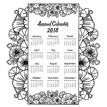 Hand Drawn Lineart Calendar Designs
