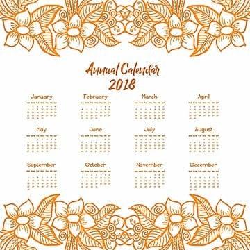 Hand Drawn Lineart Calendar Designs, Calendar, Hand, Drawn PNG and Vector