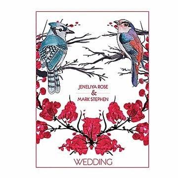 Watercolor Floral Wedding Invitation