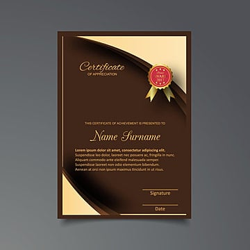 Modelo de certificado de Luxo e Moderno padrão, diploma, ilustração vetorial