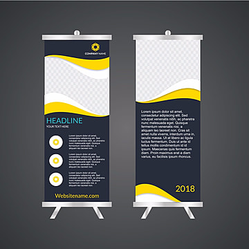 business roll up standee design banner template presentation and
