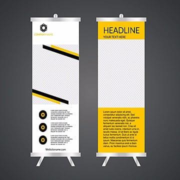 Negocio Roll up.Stand de diseño.Banner template.Presentación y folleto Flyer.Ilustracion vectorial