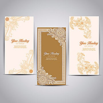 Simple Lineart Brochure Designs