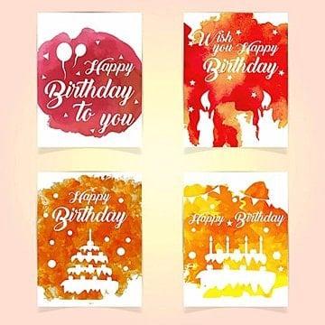 Feliz aniversário cartões, Cartões, Festa, BoloPNG e Vector