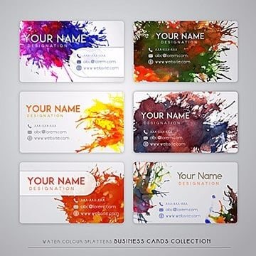 Watercolor Splatter Visiting Card, Watercolor, Splatters, Splatter PNG and Vector