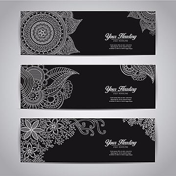 Mandala design header collection