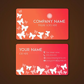 Beautiful Butterflies Visiting Card, Visiting, Card, Business PNG and Vector