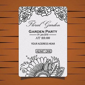 Garden Party Invitation Card
