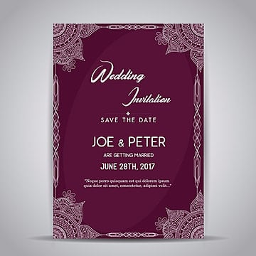 carte d'invitation au mariage de mandala conception