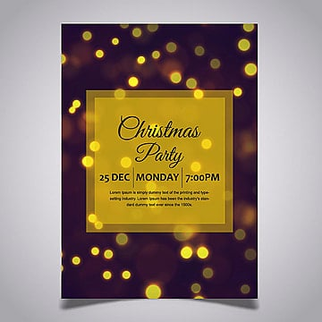 Christmas Posters Designs, Colorful, Color, Yellow PNG and Vector