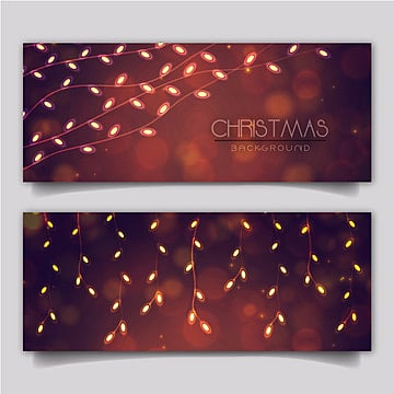 Elegant Merry Christmas Banner with Lighting Effect, Elegant, Beautiful, Merry PNG and Vector