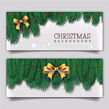 Elegant Merry Christmas Banner with Lighting Effect