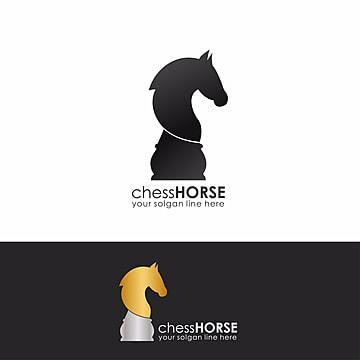 Chess Horse Logo Template