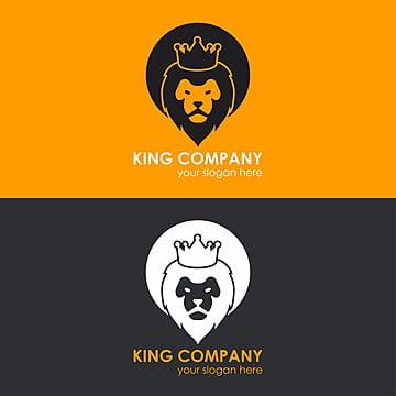 logo de lion couronne modèle