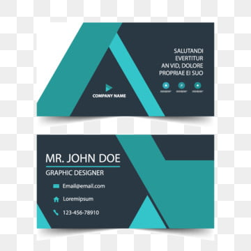 Blue corporate business card, name card template, Business, Card, Template PNG and Vector