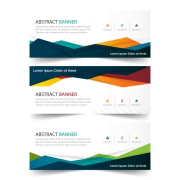 красочные бизнес баннер шаблон, горизонтальной рекламного бизнеса баннер макет шаблон проектирования чистых резюме охватывают квартиру, заголовок справочный веб - дизайна, баннер, дизайн, шаблонPNG и вектор