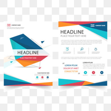 Abstract Brochure report flyer magazine presentation element template a4 size set for advertising marketing website
