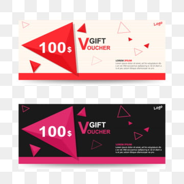 Colorful Gift voucher template with colorful pattern