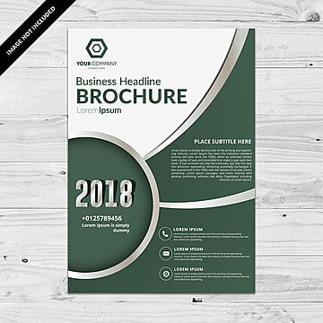 Color oscuro Corporate Flyer template