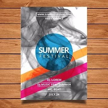 Summer festival flyer tempalte