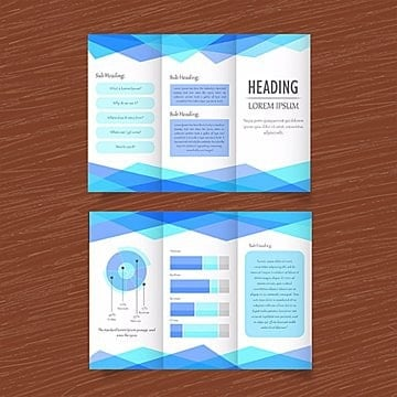 Blue vector Business triptico plantilla