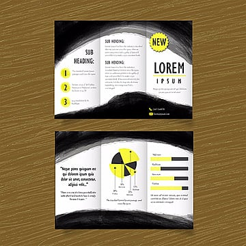 Black and Yelllow Vector Business Trifold Brochure Template