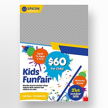 school flyer, Child, Price, Blue PNG and PSD
