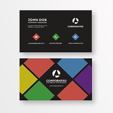 красочные студии визитку, бизнес, карты, схемыPNG и PSD