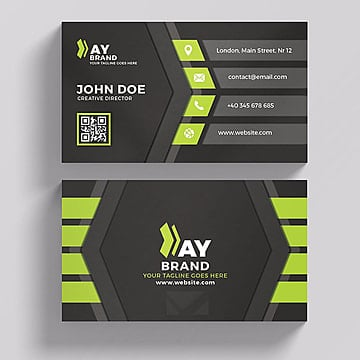 Business card psd 1736 photoshop graphic resources for free download modern green and black business card business card template png and psd friedricerecipe Images