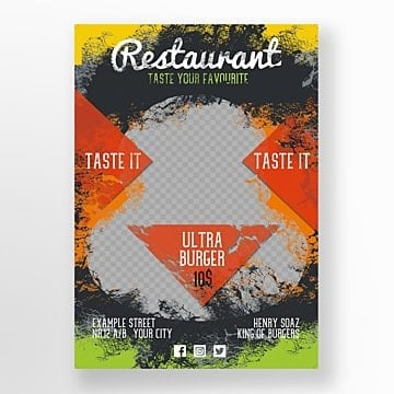 Burger House Flyer template
