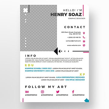 Resume Psd 391 Photoshop Graphic Resources For Free Download