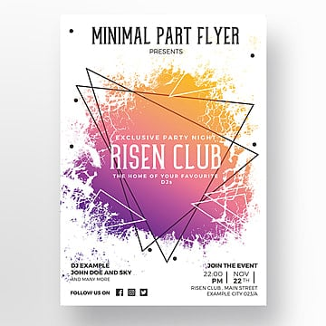 Creative flyer template, Poster, Design, Creative PNG e PSD