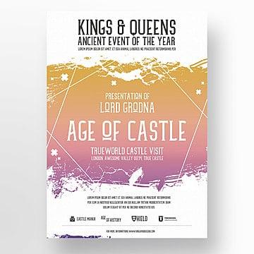 Castelo flyer template, Poster, Design, CreativePNG e PSD