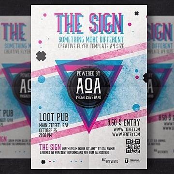 Party flyer template, Poster, Design, CreativePNG e PSD