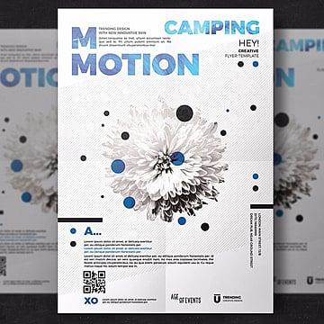 Movimento flyer template, Poster, Design, CreativePNG e PSD