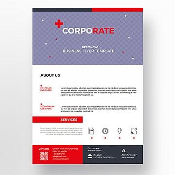Tech flyer template, Brochura, Design, FlyerPNG e PSD
