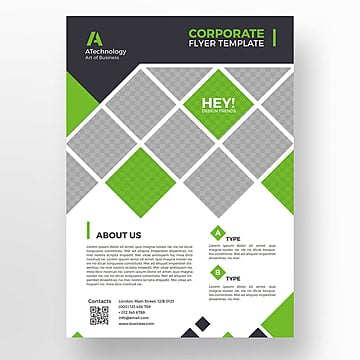 Green minimal flyer template, Brochura, Design, Flyer PNG e PSD