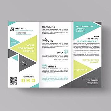 корпоративные trifold шаблон, брошюра, Trifold, шаблонPNG и PSD