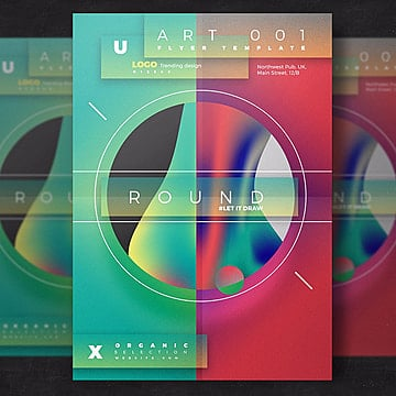 Abstract artistic flyer template