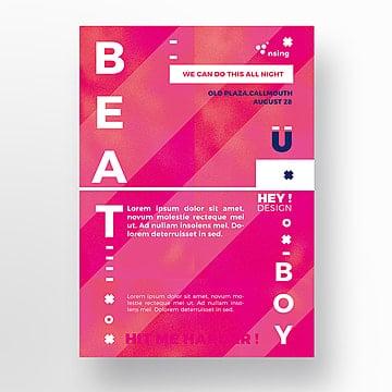 Creative purple flyer template