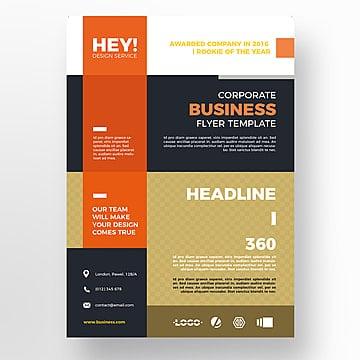 Business flyer template, Brochura, Design, FlyerPNG e PSD