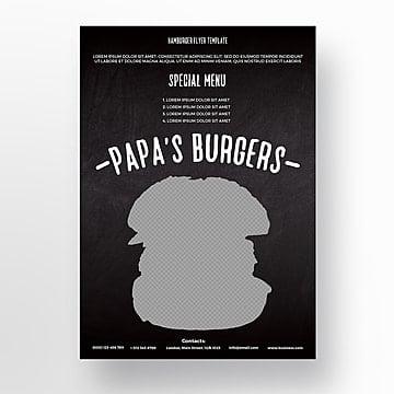 Hamburger flyer template