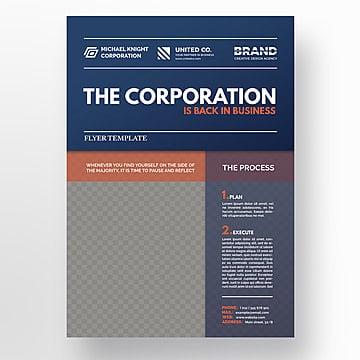 минимальные корпоративных флаер шаблон, брошюра, дизайн, летчикPNG и PSD