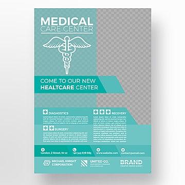 Hospital flyer template, Brochura, Design, FlyerPNG e PSD